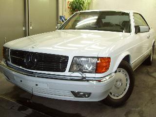 Mercedes Benz 560SECのコーティング